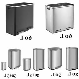 Trash Can Stainless Steel Garbage Bin, Suit for Bathroom K