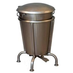 TRASH CAN STEP ON Durable Metal 13 Gallons Removable Lid Odo