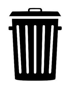 Trash Can Vinyl Sticker Decal Waste Recycle - Choose Size &
