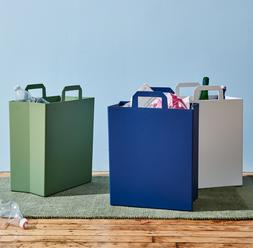 Trash Can Waste Recycle Basket Modern Home Office Kitchen Bi