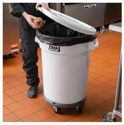 Trash Can With Lid Wheels Commercial Outdoor For Kitchen Gar