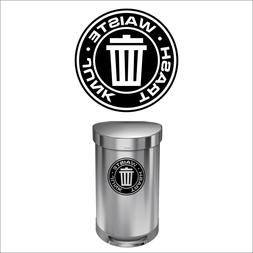 Trash Decal Sticker for trash cans - Home & Office Use! Choo