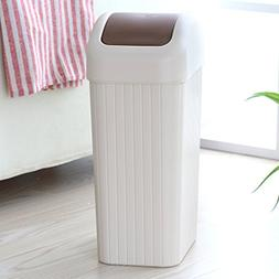 AIDELAI Trash Plastic With Lid Trash Can Household Living Ro