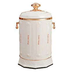 AIDELAI Trash Stainless Steel Trash Can With Lid Retro House