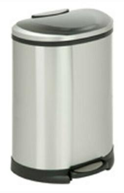 Honey-Can-Do 50-Liter Trashcan, Matte Black