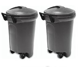 United Solutions TrashMaster 32 Gallon Wheeled Trash Can wit