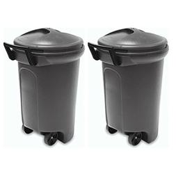 United Solutions TrashMaster Wheeled Trash Can with Turn & L