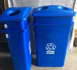 Carlisle TrimLine 23 Gal. Blue Trash Can Indoor/Container Bi