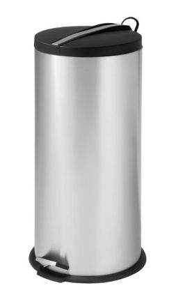 Honey-Can-Do TRS-02112 Round Stainless Steel Step Trash Can