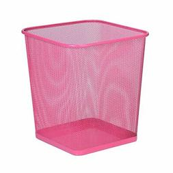 Honey-Can-Do TRS-05085 Square Mesh Trash Basket, 10.5 x 10.5