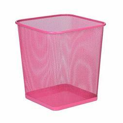 Honey-Can-Do TRS-05085 Square Mesh Trash Basket, 10.5 x 10.5