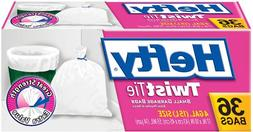 Hefty Twist Tie Small Garbage Bags, 4 Gallon, 432 Bags, 12 C