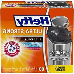 Hefty Ultra Strong Blackout Trash/Garbage Bags, Kitchen Draw