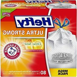 Hefty Ultra Strong Trash Bags Citrus TwistTall Kitchen Draws