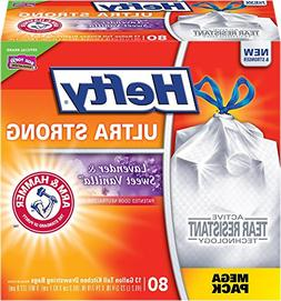 Hefty Ultra Strong Trash Bags Lavender Sweet Vanilla, Tall K