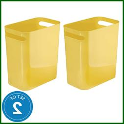 UNA Waste Trash Can For Bathroom Kitchen Bedroom Set Of 2 12