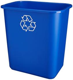 United Comb An Novelty 28 Quart Blue Recycling Wastebasket W
