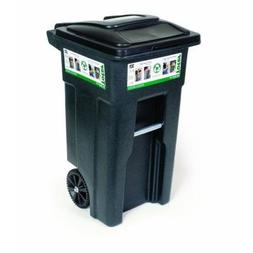 Universal Green Polyethylene 32-Gal. Wheeled Trash Can Cart