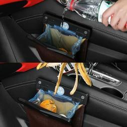 Universal Smart LED Car Trash Can PU Leather Dust Case Garba
