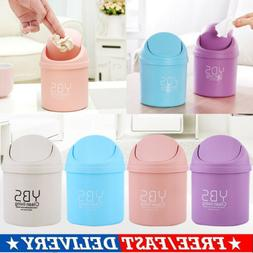 US Creative Desktop Mini Trash Can Covered Kitchen Living Ro