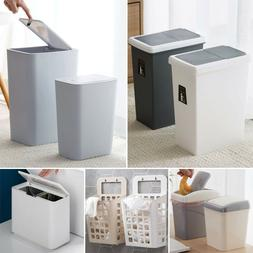 US Stock Kitchen Bathroom Trash Can Garbage Rubbish Desktop