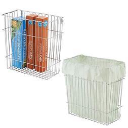 mDesign Wall Mount Kitchen Storage Organizer Basket Bin/Tras