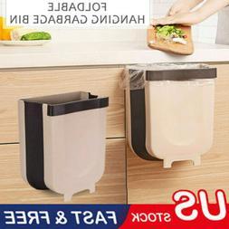 wall mounted folding waste bin kitchen cabinet