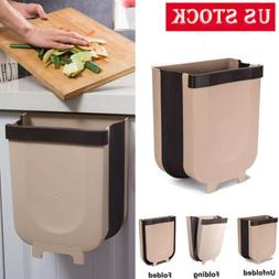 Wall Mounted Folding Waste Bin Kitchen Cabinet Door Hanging