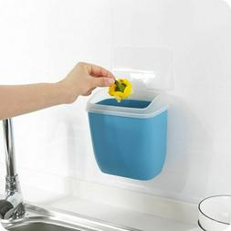Wall-mounted Nail-free Trash Can With Lid Plastic Debris Sto