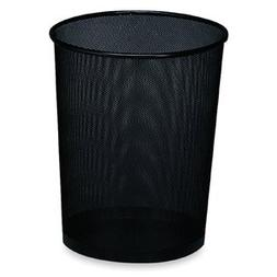 Rolodex™ Wastebasket, Round, Wire Mesh, Black