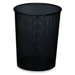 Rolodex™ Wastebasket, Round, Wire Mesh, Black