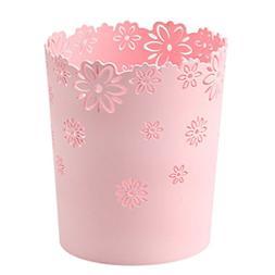 Wastebasket,Hmane Hollow Flower Shape Plastic Lidless Wastep