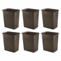 Sterilite Weave 3.4 Gallon Plastic Home/Office Wastebasket T