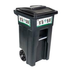 WHEELED TRASH CAN 32 GAL.Wind & set-down stability
