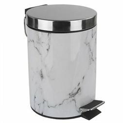 Home Basics White Faux Marble Bathroom Accessory