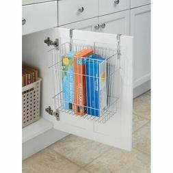 mDesign Wire Over Cabinet Door Kitchen Storage Basket/Trash
