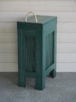 Wood Trash Can,Kitchen Garbage Can,Rustic Trash Bin,Hunter G