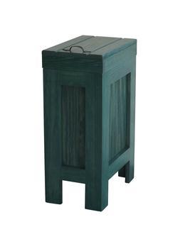 Wood Trash Can Kitchen Garbage Can Rustic Wood Trash Bin Hun