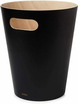 Umbra Woodrow 2 Gallon Modern Wooden Trash Can Wastebasket o
