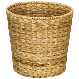 Woven Wicker Waste Basket Bathroom Office Trash Can Round Bi