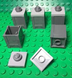 Lego X5 New Dark Gray Container Crate / Box / Street Trash C
